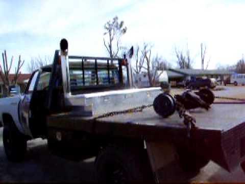 Cummins Turbo Diesel >> 91 dodge cummins turbo diesel flatbed - YouTube