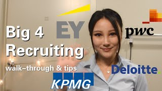 Big 4 Accounting Firms Recruiting for Undergraduates | experience, tips and advice