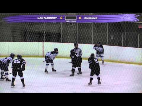 Cushing Academy - Varsity Boys Ice Hockey vs. Canterbury School