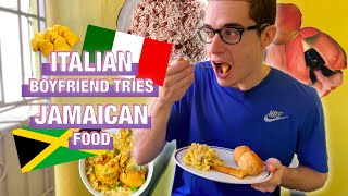 ITALIAN BOYFRIEND TRIES (AND RANKS) OUR JAMAICAN FOOD