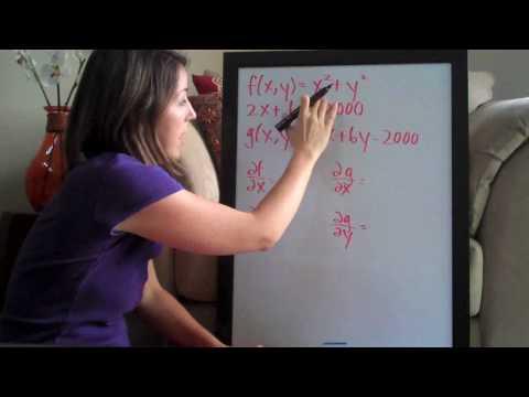 Lagrange Multipliers PART 1/2 (KristaKingMath)