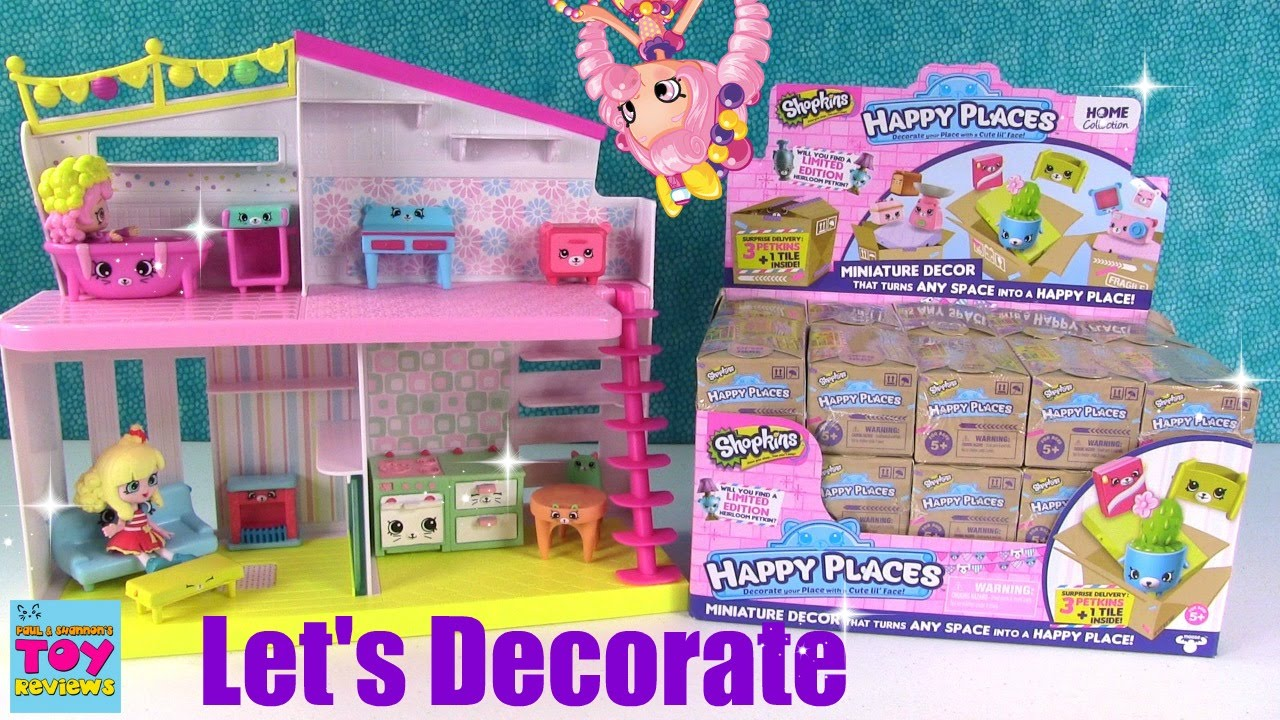 Series 2 Shopkins Happy Places Home Collection Surprise Delivery Lot of 3