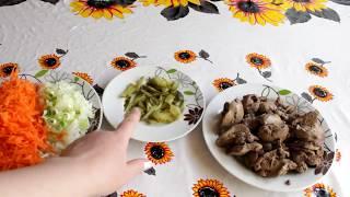 Салат из куриной печени в будни и на праздник