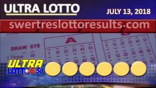 LOTTO RESULT JULY 13 2018 (6/58, 6/45, 4d, Swertres, Ez2 and STL)
