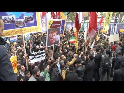 Iranians Hold Protest to Mark Anniversary of U.S. Embassy Takeover