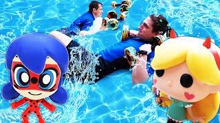 Видео шоу - Чиби Леди Баг на олимпиаде в Аквапарке! - Новые игры с Акватим.