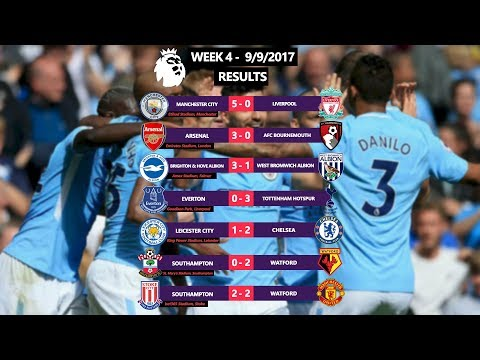 Premier league 2017/18 week 4 (9/9/2017) | match stats, results & goals