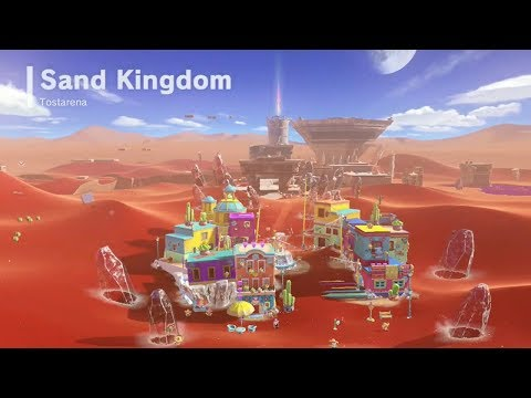 Super Mario Odyssey | Sand Kingdom - All Power Moons & Pyram
