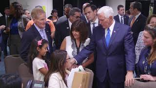 Vice President Pence Visits with Puerto Rican Families in Florida