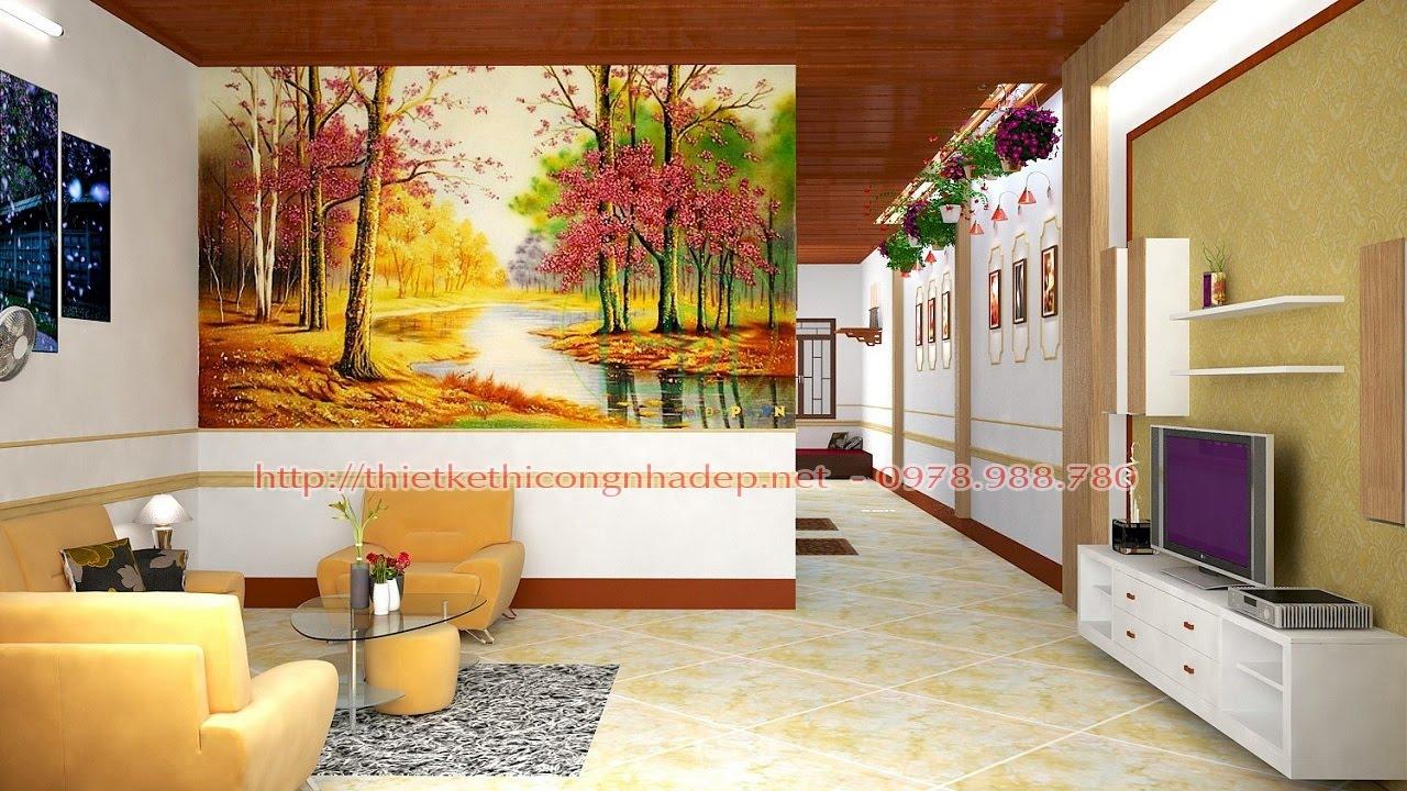 Nhà cấp 4 mái tôn đẹp (có đầy đủ bản vẽ thiết kế và ảnh phối cảnh)