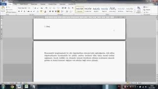 Sayfa Numarası Ekleme