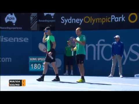 Koolhof/Middelkoop vs Murray/Soares doubles final Sydney 2017