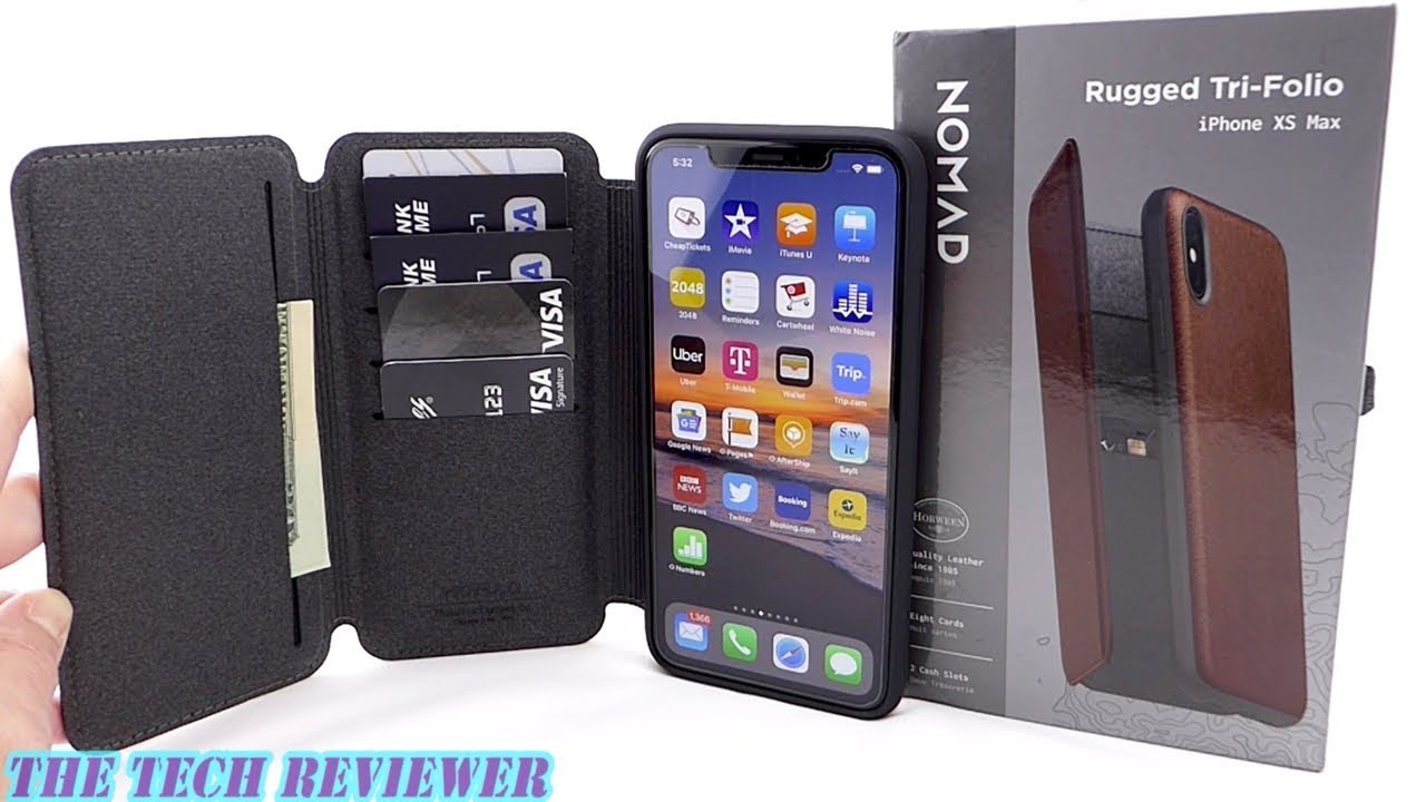 separation shoes c16c8 d0d6a Nomad Rugged Tri-Folio for iPhone Xs Max: Beautiful Leather * High Capacity  * 6 Ft Drop Protection!