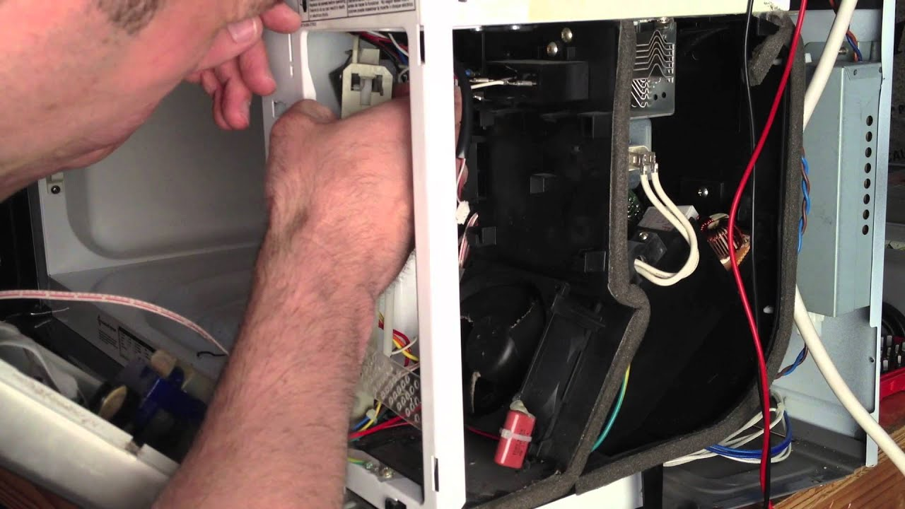Repair Replace bad Door Switch Mechanisms on a Whirlpool Microwave  YouTube