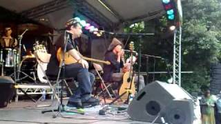 Mamer performing with the Jews Harp at WOMAD 2009