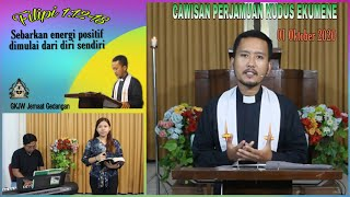 Cawisan Perjamuan Kudus Ekumene II 01 Oktober 2020