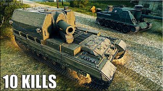 Conqueror Gun Carriage 🌟 10 фрагов на арте 🌟 World of Tanks лучший бой на САУ 10 уровня