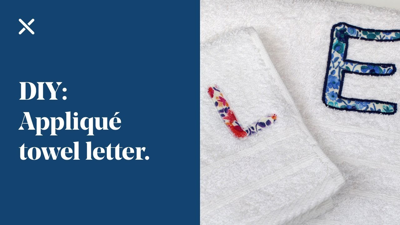 Download DIY: Appliqué Towel Letter