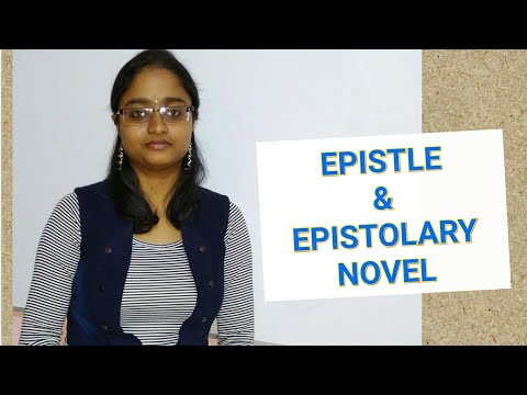 Meanings of EPISTLE & EPISTOLARY NOVEL