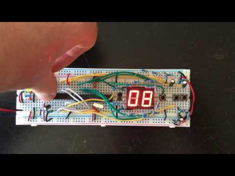 0 to 99 counter with Atmega328p and 7 segment displays