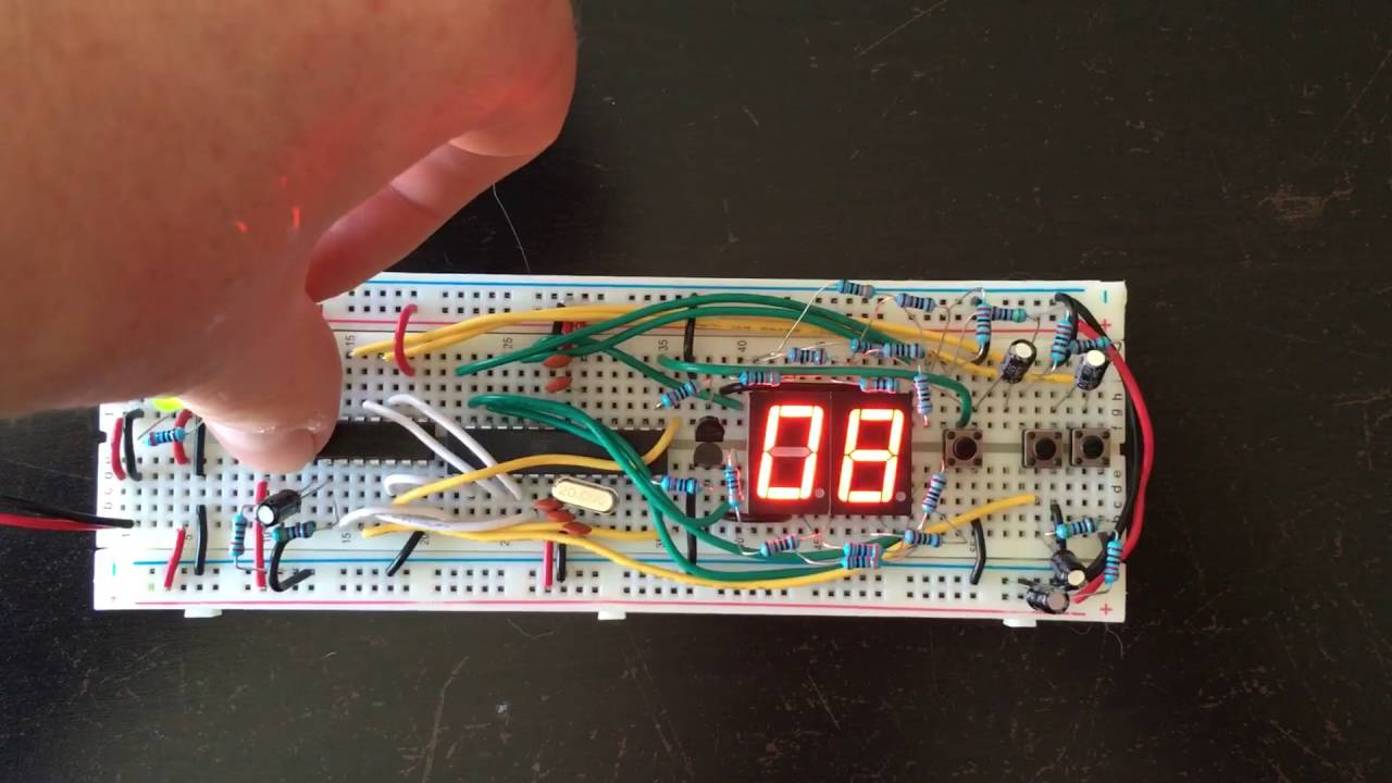 0 To 99 Counter With Atmega328p And 7 Segment Displays Youtube Electronic Circuit Schematics Other 7segment Display