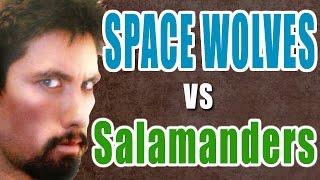 NEW Space Wolves vs Salamanders Warhammer 40K Battle Report - Banter Batrep Ep 140