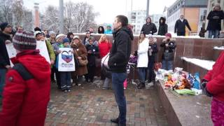Митинг за защиту животных, г. Тверь, выступление Николая Морозова