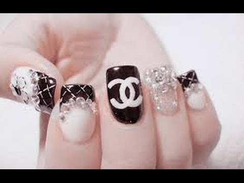 Nail Art Chanel Tutorial Youtube