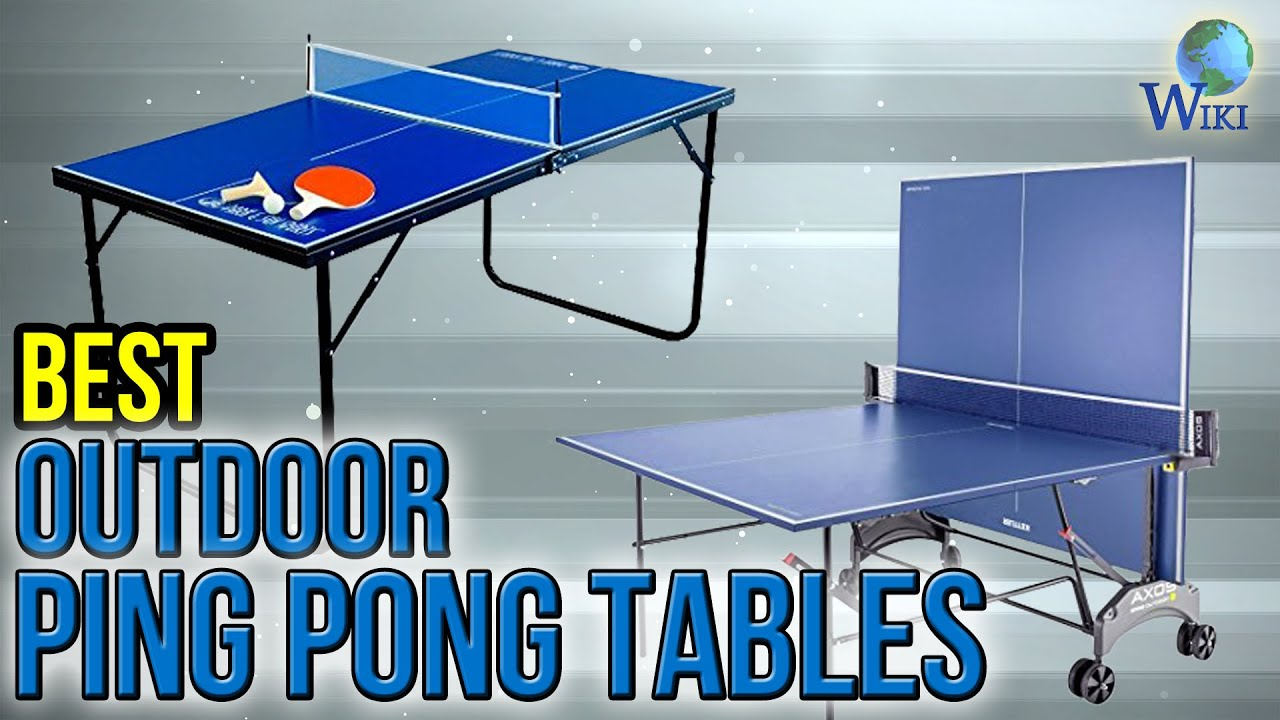8 Best Outdoor Ping Pong Tables 2017 - YouTube