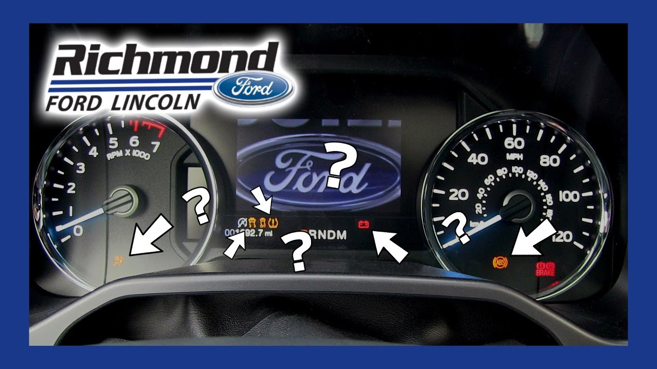Ford F 150 Dashboard Lights What They Mean And What To Do Youtube