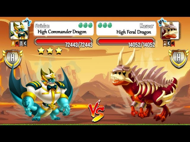 DRAGON CITY: High Commander Dragon vs High Feral Dragon | EXCLUSIVE BATTLE ????
