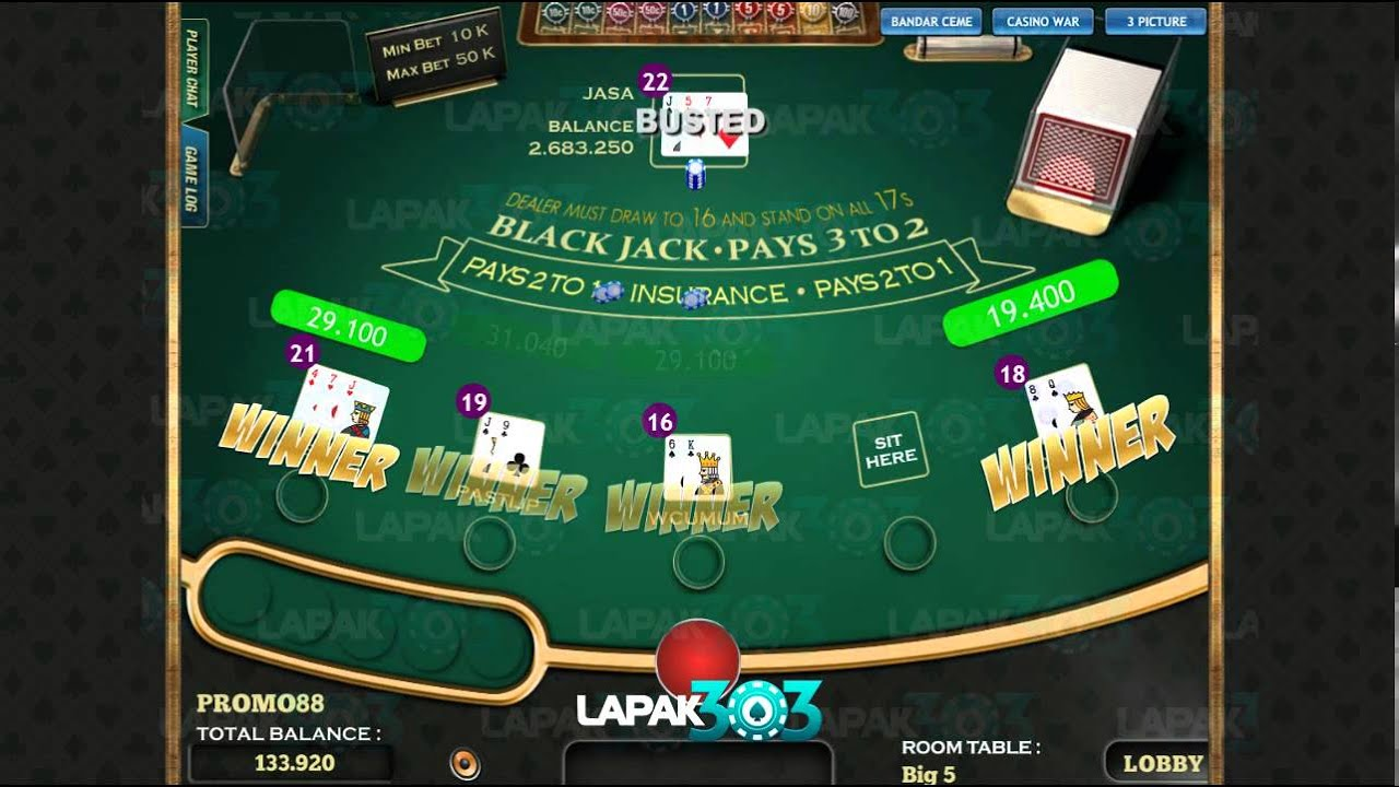 Lapak303 Blackjack Ceme Casino War Sa Kong Youtube