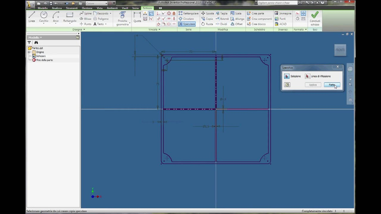 inventor autodesk tutorial parte01 italiano youtube rh youtube com Tutoriel Basique Inventor Fusion 2012 Inventor Fusion 2012 for PC Joints