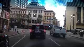 Driving Downtown - Early Morning on Bourbon St – New Orleans Louisiana