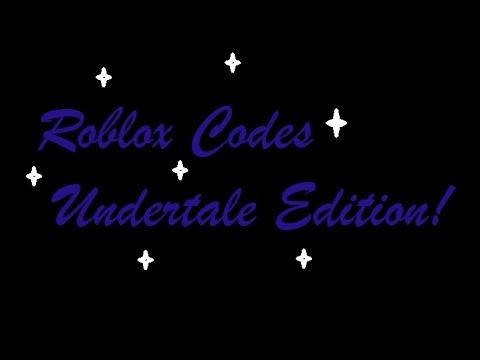 Roblox Undertale Codes!!!! (Check Description) - YouTube