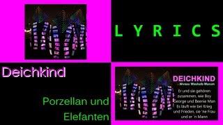 Deichkind - Porzellan und Elefanten (with lyrics)