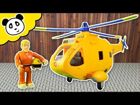 FEUERWEHRMANN SAM Wallaby 2 Feuerwehr Helikopter - Spielzeug auspacken & spielen - Pandido TV