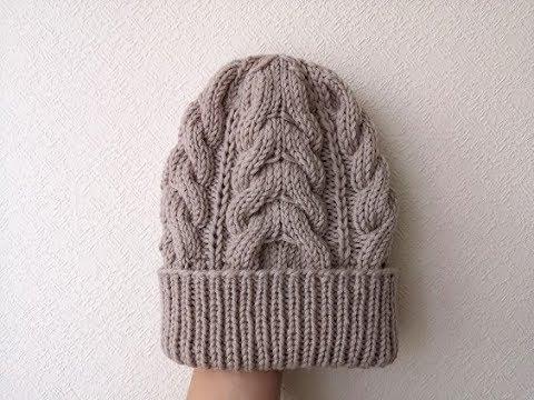 Вязать спицами шапку с косами