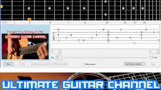 [Guitar Solo Tab] Tonight You Belong To Me (Patience And Prudence)