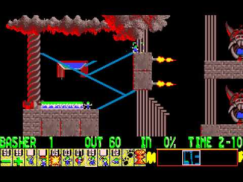Lemmings full playthrough (DOS)