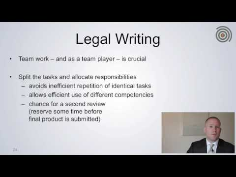 Legal Research and Writing 06 Legal Writing