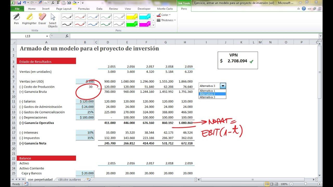Cómo armar un modelo en Excel para un proyecto de inversión - YouTube