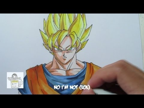 How to draw Super Saiyan Goku