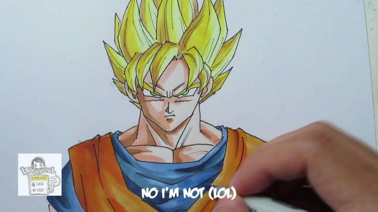 How to draw super saiyan goku youtube - Sayen legendaire ...