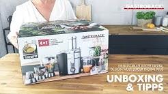 Unboxing und Tipps Gastroback Entsafter Design Multi Juicer Digital Plus 40152