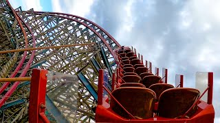 Texas Giant Roller Coaster Back Seat View Six Flags Over Texas 4K POV