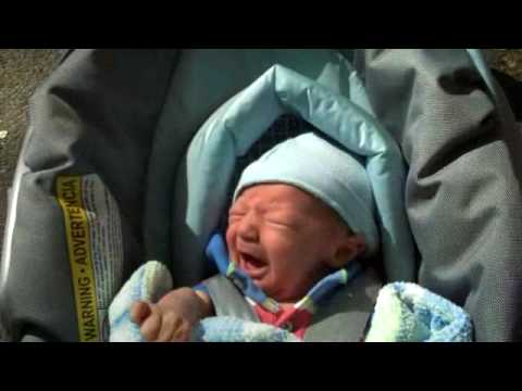 Graham crying in car seat - YouTube