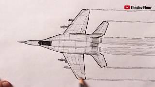 Как нарисовать Военный Самолет Истребитель легко