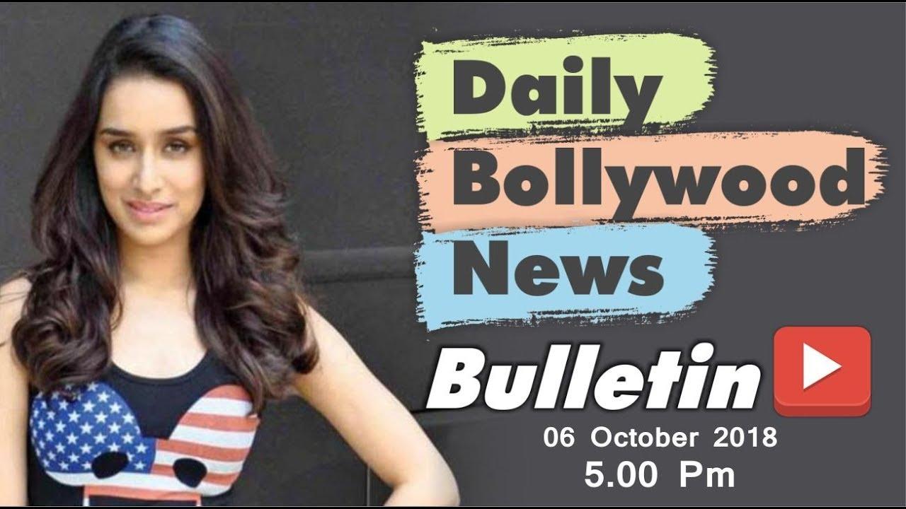 Latest Hindi Entertainment News From Bollywood | Shraddha Kapoor | 6 October 2018 | 5:00 PM