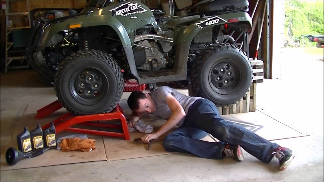 hight resolution of arctic cat oil change